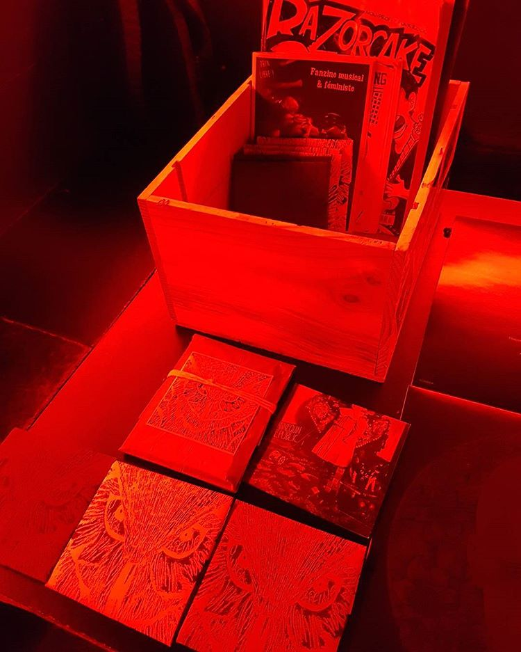 Fanzines in the basement @ Mudd Club